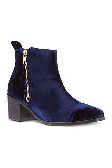KG BY KURT GEIGER Serpent velvet ankle boots