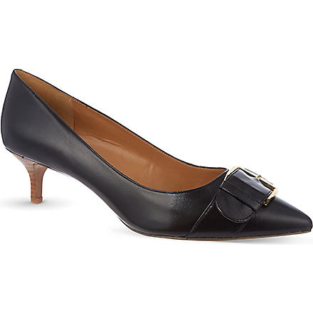 NINE WEST Paylette leather courts (Black