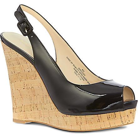 NINE WEST Leggy wedges (Black