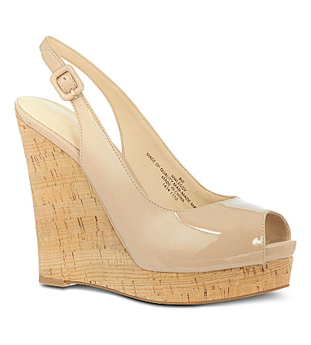 NINE WEST Leggy patent sandals (Nude