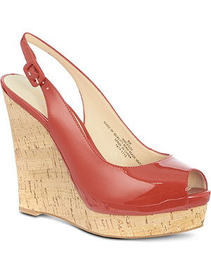 NINE WEST Leggy patent sandals