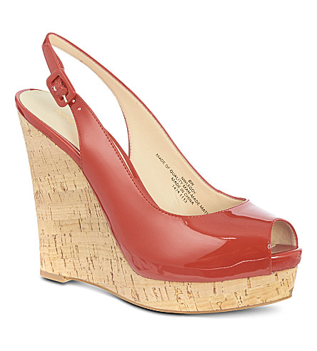 NINE WEST Leggy patent sandals (Red