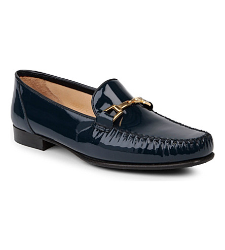 CARVELA Mariner patent leather loafers (Blue