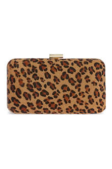 KG BY KURT GEIGER Dandy leopard box clutch