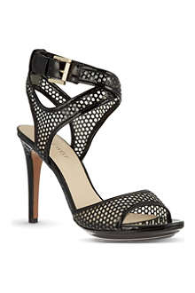 NINE WEST Halden3 perforated heeled sandals