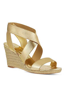 NINE WEST Juna2 elastic wedge sandals