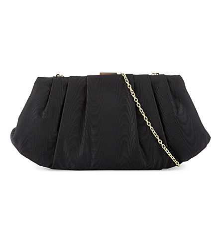 NINE WEST Bridal pleated clutch (Black