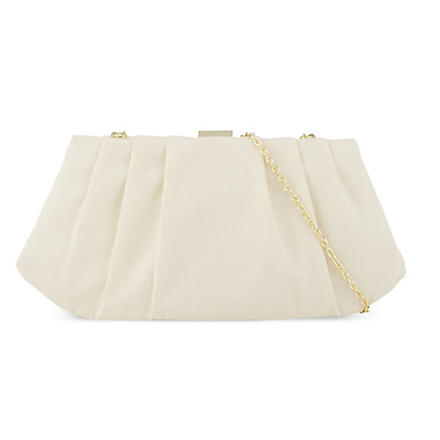 NINE WEST Bridal pleated clutch (Champagne