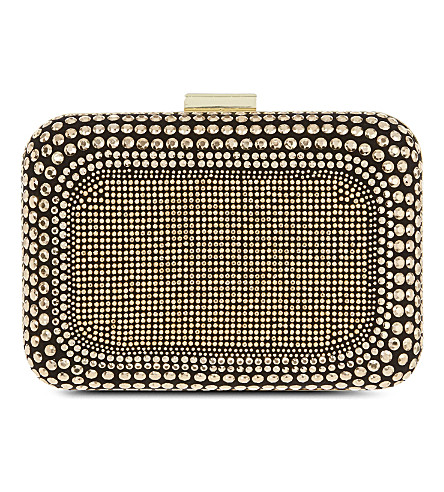 CARVELA Boss embellished clutch (Black