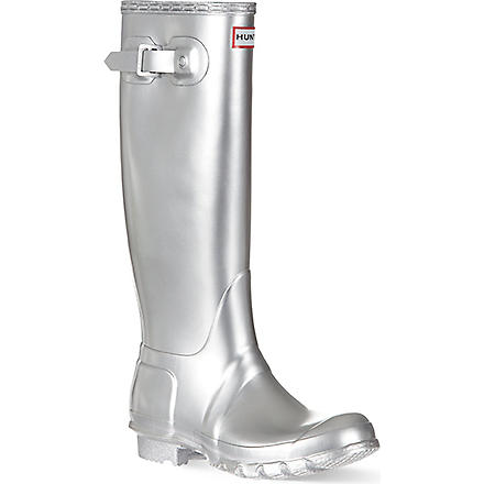 HUNTER Original metal wellies (Silver