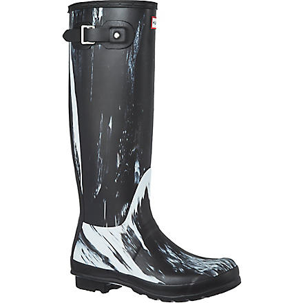 HUNTER Original Nightfall wellies (Blk/white