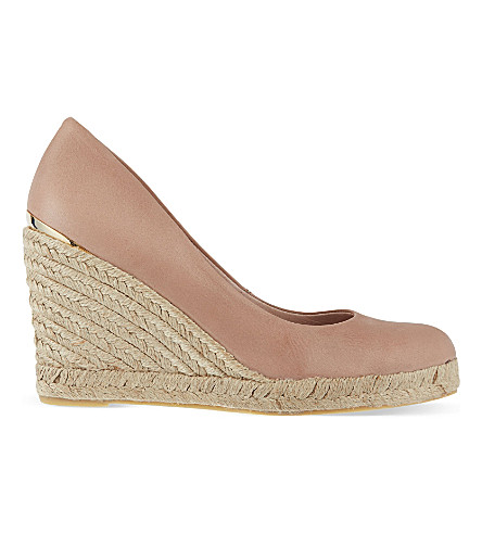 CARVELA Kut leather wedged sandals (Nude