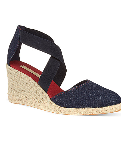 NINE WEST Memory2 wedge sandals (Denim
