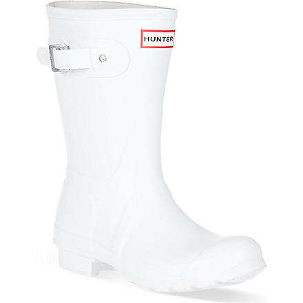 HUNTER Original short wellies (White