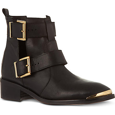 KG KURT GEIGER Saxon leather ankle boots (Black