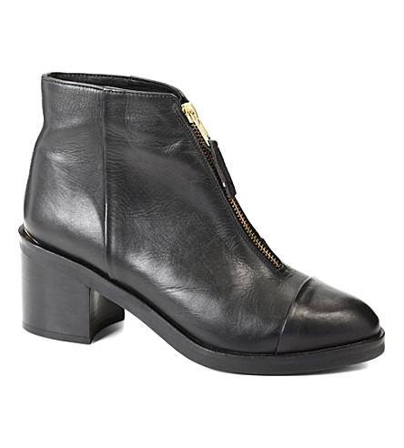 KG KURT GEIGER Spencer leather ankle boots (Black