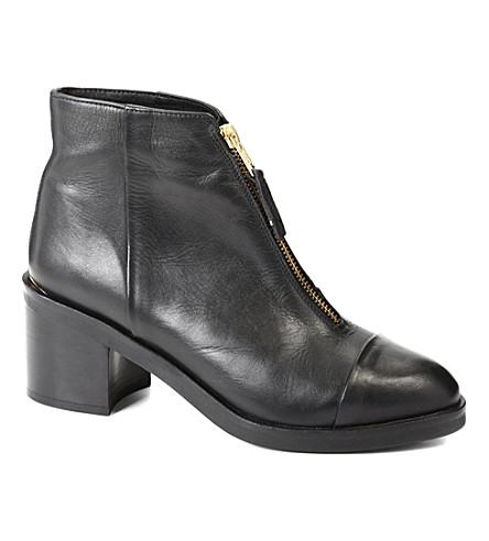 KG KURT GEIGER Spencer leather ankle boots (Black