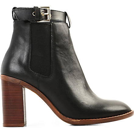 KG KURT GEIGER Sebastien leather ankle boots (Black