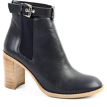 KG KURT GEIGER Sebastien leather ankle boots (Navy