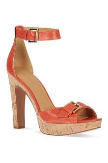 NINE WEST Edeline lizard print heeled sandals
