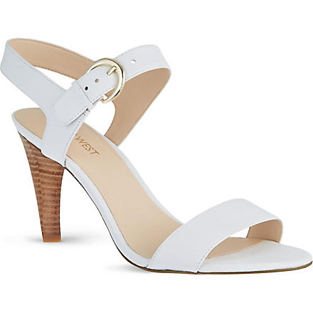 NINE WEST Marybeth leather sandals (White