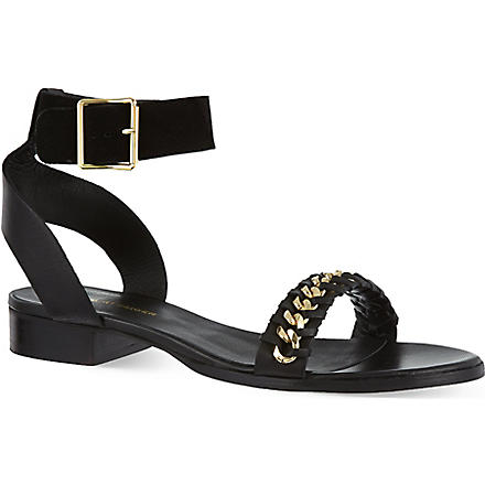 KG KURT GEIGER Maya chain sandals (Black