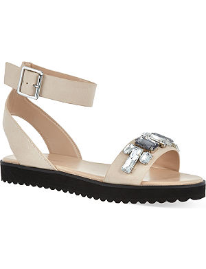 KG KURT GEIGER Night bejeweled leather sandals