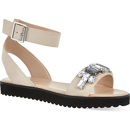 KG KURT GEIGER Night bejeweled leather sandals (Nude