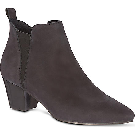 KG BY KURT GEIGER Saffron leather ankle boots (Black