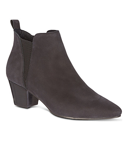 KG KURT GEIGER Saffron leather ankle boots (Black