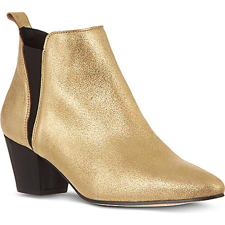 KG BY KURT GEIGER Saffron leather ankle boots (Gold