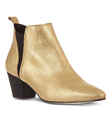 KG KURT GEIGER Saffron leather ankle boots (Gold