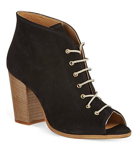 KG KURT GEIGER Selina peep toe ankle boots (Black