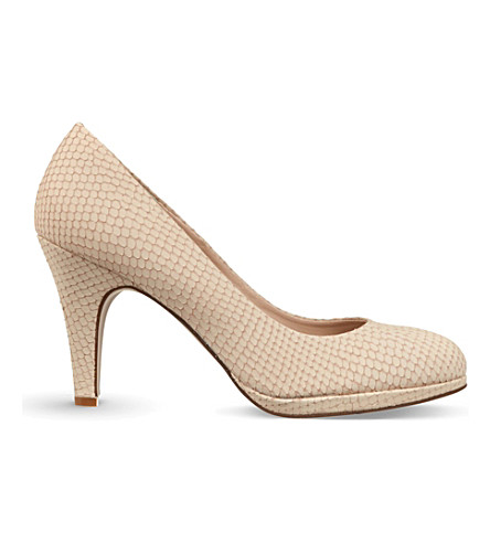 CARVELA Alas snake court shoes (Cream
