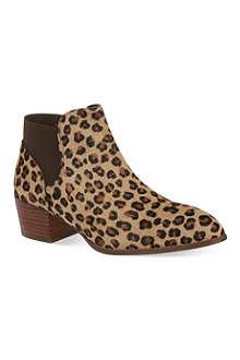 KG KURT GEIGER Sport leopard ankle boots