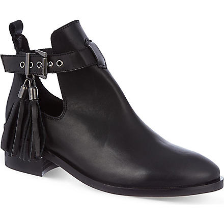KG KURT GEIGER Steep leather ankle boots (Black