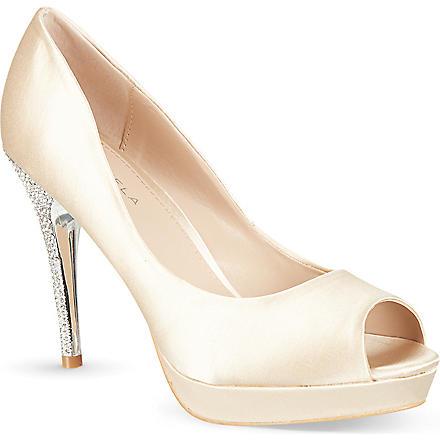 CARVELA Guest satin occasion heels (Nude
