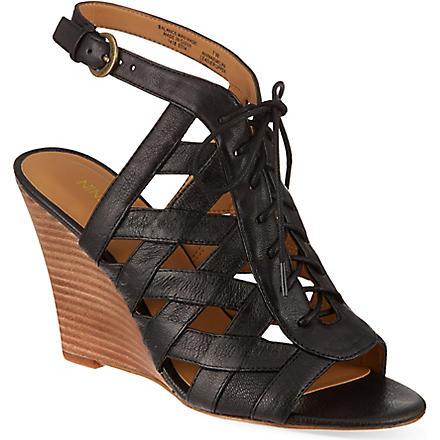 NINE WEST Maxamilian wedge sandals (Black