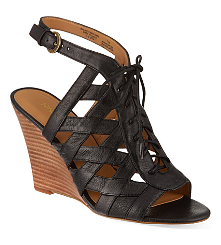 NINE WEST Maxamilian wedge sandals (Black