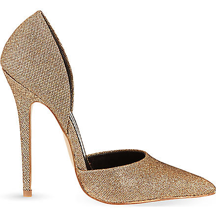 CARVELA Albert fabric court shoes (Gold