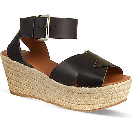KG KURT GEIGER Niko wedge sandals (Black