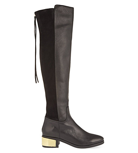 KG KURT GEIGER Wizard leather boots (Black