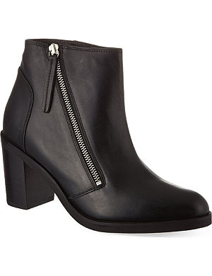 KG KURT GEIGER Shake leather ankle boots