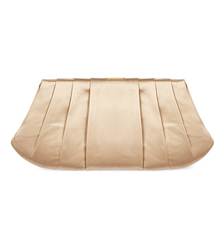 NINE WEST Bridal satin clutch (Champagne