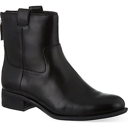 NINE WEST Jareth leather ankle boots (Black