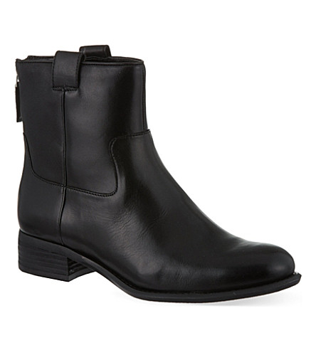NINE WEST Jareth leather ankle boots (Black