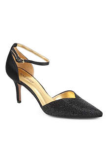 NINE WEST Knowledge2 textured-satin heeled court shoes
