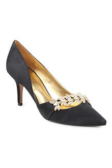 NINE WEST Krista2 satin heeled court shoes