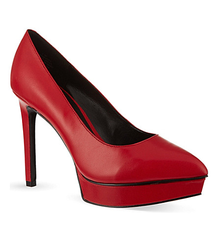 NINE WEST Bigbucks platform court shoes (Red