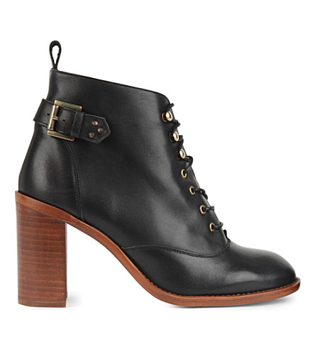 KG KURT GEIGER Sweet heeled leather ankle boots (Black